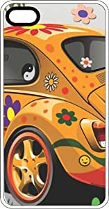 Hippy VW Bug White Rubber Case for Apple iPhone 5c