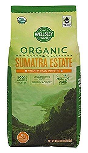 Wellsley Farms Organic Sumatra Level Whole Bean Coffee, 40 oz.