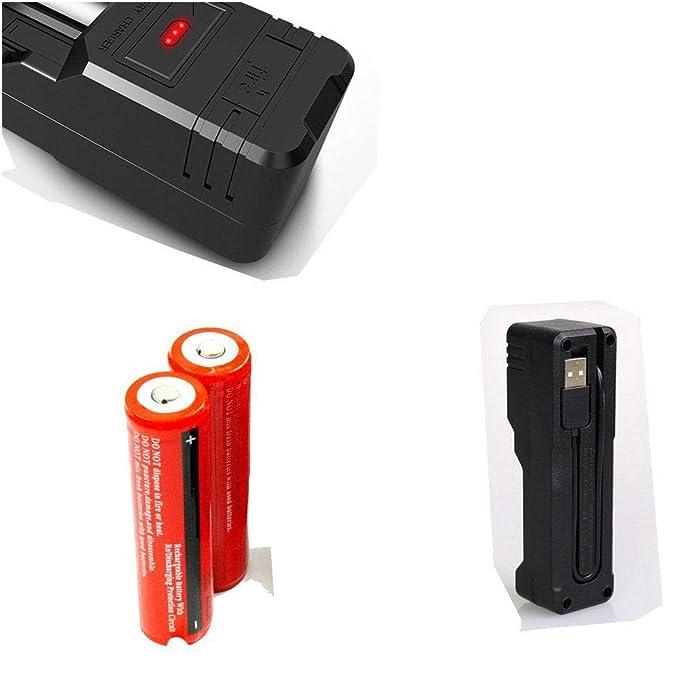 Constefire Linterna LED Súper Brillante 2000 Lúmenes Recargable, CREE T6 Linterna Táctica con 5 Modos, Zoomable Impermeable Linterna para Senderismo, ...