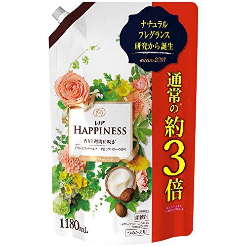 レノアハピネス 柔軟剤 ナチュラルフレグランス プリンセスパールブーケ&シアバターの香り つめかえ用超特大サイズ 1180ml