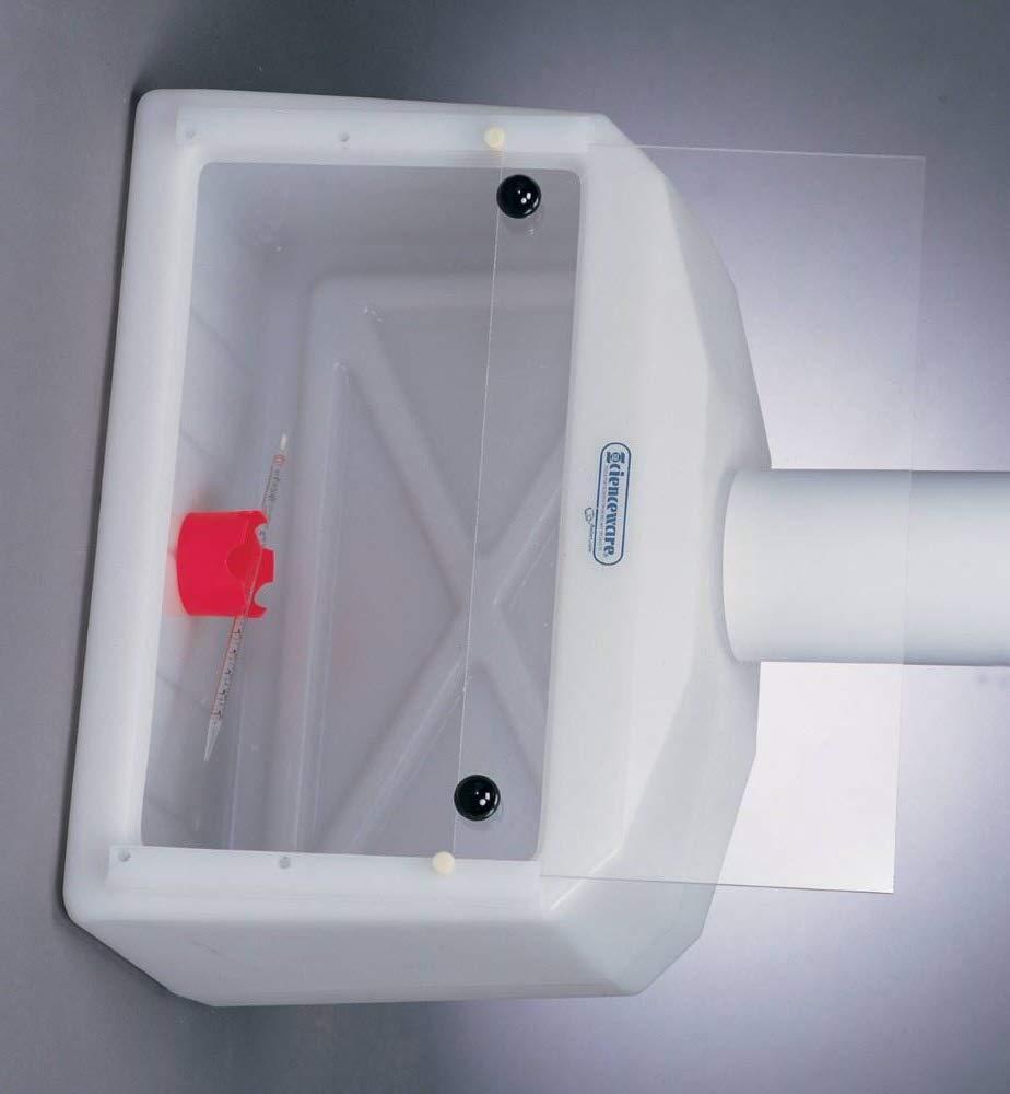 Bel-Art Small Molded Polyethylene Benchtop Fume Hood with Acrylic Sash; 27 x 13 x 22 in. (H50000-0002)