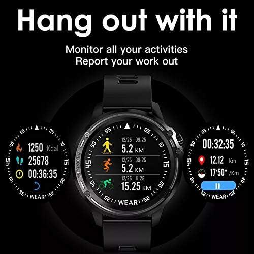 Tactile Montre connectée L8 Bluetooth écran Couleur Smart Watch avec ECG PPG Pression artérielle fréquence Cardiaque Sport Fitness