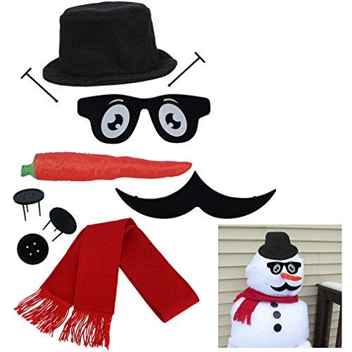 Evelots My Very Own Snowman Kit, New & Improved Design, 10 Pieces Included -
