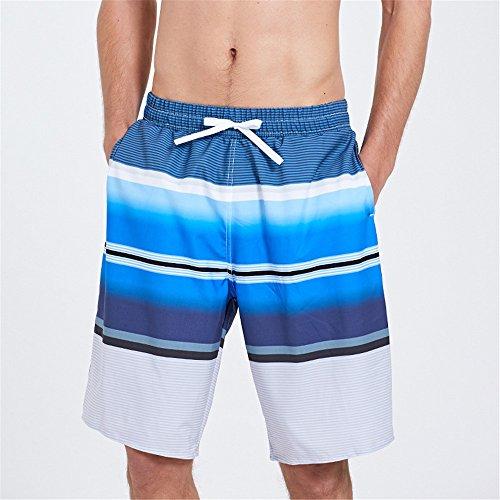 Bendwy Pantalons de plage mâle à séchage rapide station balnéaire couple lâche shorts cinq points grande taille troncs de boxeur (Taille : XL)
