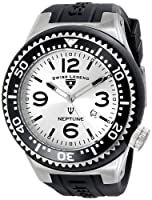 "Swiss Legend Men's 21818S-F-OR ""Neptune"" Silver Dial Black Silicone Watch from Swiss Legend"