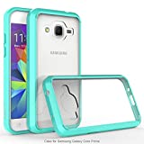Galaxy Core Prime/Prevail LTE Case, Exact PRISM Series - TPU Grip Bumper / Resistant / Protection / Slim-Fit Transparent Bumper Case for Samsung Galaxy Core Prime, Galaxy Prevail LTE Teal/Clear
