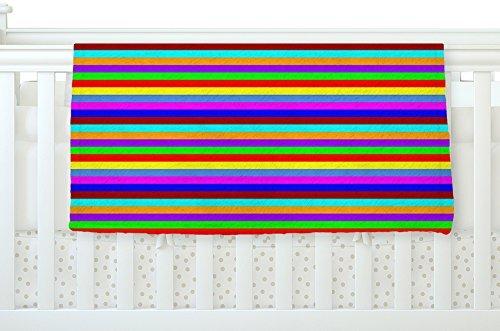 KESS InHouse Trebam Bombon Rainbow Stripes Fleece Baby Blanket 40 x 30 [並行輸入品]   B077Z5TLVV