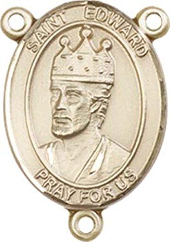 Medal Edward Pendant - 14K Gold Filled Saint Edward the Confessor Rosary Centerpiece Medal, 3/4 Inch