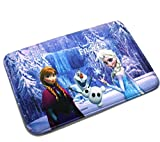 Elsa and Anna Mats Cover Non-Slip Machine Washable Outdoor Indoor Bathroom Kitchen Decor Rug