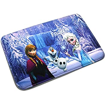 Amazon Com Disney Frozen Rug Anna Olaf Elsa Room Decor