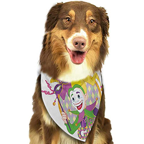 Dog Bandana Mardi Gras Cartoon Design of Mardi...