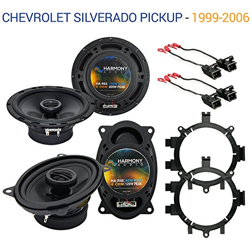 Compatible with Chevy Silverado Pickup 1999-2006 Factory Speaker Upgrade Harmony R5 R46 New