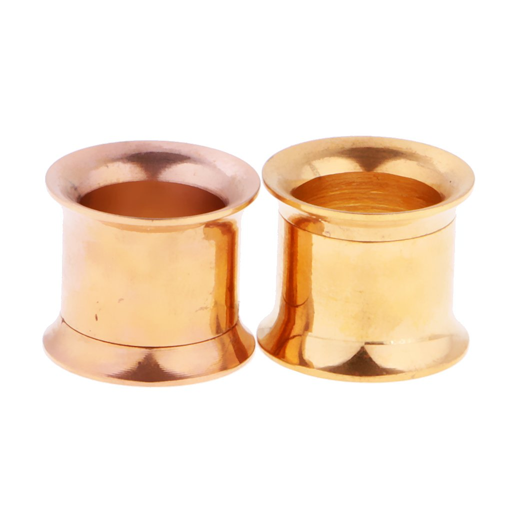 Prettyia Gold Screw On Stainless Steel Ear Strech Kit Ear Flesh Tunnel Plug 8mm