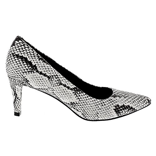 Sophia Snake Black Women's Cradles Print PU Pump Walking White R7Exp