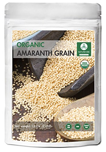 Organic Amaranth Grain - Organic Amaranth Grains (2lb) by Naturevibe Botanicals, Gluten-Free & Non-GMO (32 ounces)