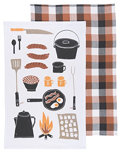 Now Designs Teatowels Cookout black