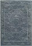 Cheap Safavieh Vintage Premium Collection VTG114-7220 Transitional Oriental Blue Distressed Silky Viscose Area Rug (3'3″ x 5'7″)