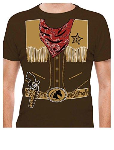 TeeStars - Cowboy Halloween Easy Costume Outfit T-Shirt