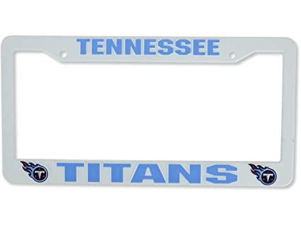 Amazon.com : NFL Tennessee Titans Plastic License Plate Frame ...