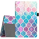 Fintie Folio Case for All-New Amazon Fire HD 8 Tablet (Compatible with 7th and 8th Generation Tablets, 2017 and 2018 Releases) - Slim Fit Vegan Leather Standing Protective Cover, Moroccan Love