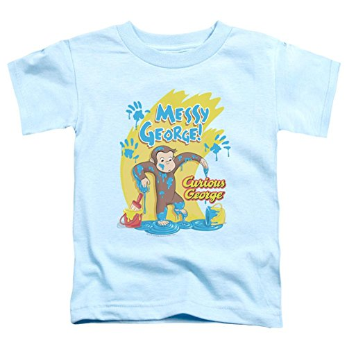 George Curious Infant T-shirt Yellow - Trevco Toddler Curious George Messy George Baby T Shirt Size 4T