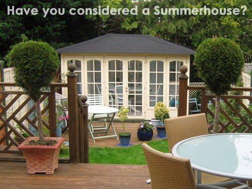 Dunster House 350 Valiant 3, 5 m x 2, 5 m (12 x 8 aprox) de madera lugar de descanso jardín sala edificio: Amazon.es: Jardín