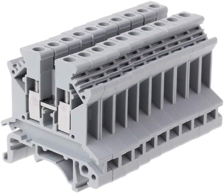 Rtengtunn 10 Pezzi//Set Vite per morsettiera UK-2.5B ApplicazioneB Connettore termianl per Cablaggio su Guida DIN