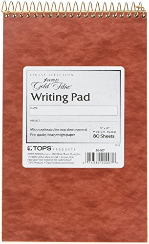 Gold Wirebound Writing Pads - 2