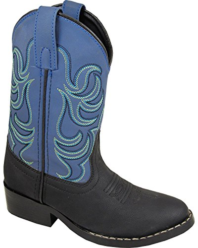 Smoky Mountain Boys Black/Blue Monterey Western Cowboy Boots,Black/Blue,1 M US Little Kid