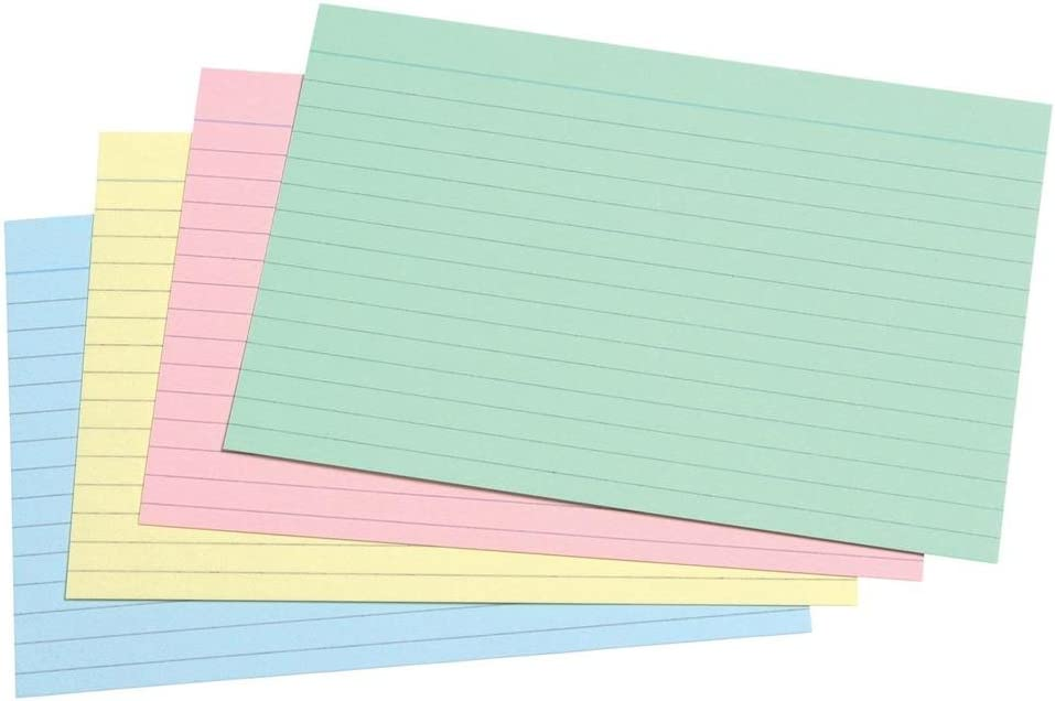 """Record Cards 6x4"""" 152x102mm 100 Cards white"""
