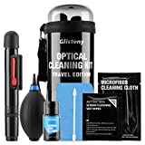 Camera Cleaning Kit,GLISTENY Sensor Cleaning Kit with Non-toxic Alcohol-free Sensor Cleaning Fluid,Hurricane Air Blower,Travel Size Waterproof Case for DSLR Cameras and Sensors Bundle