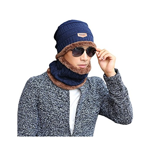 [RuSong Unisex Fashion Women Men Hat Scarf Set Knit Boy lady Warm Thick Winter Cap (ushat-4)] (Pork Pie Hat For Sale)
