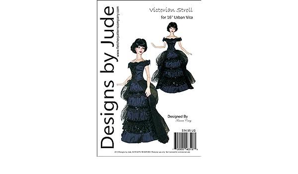 "Fall Dress /& Coat Doll Clothes Sewing Pattern for 16/"" Horsman Vita Dolls"
