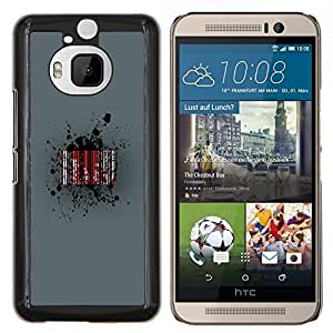 LECELL--Funda protectora / Cubierta / Piel For HTC One M9Plus M9+ M9 Plus -- Barcode Sangre --