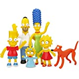 "The Simpsons family,  Homer, marge, Bart, Maggie, and Santa's little helper, bearable poseable, size over 8"" tall, birthday gift for kids, boys and girls."