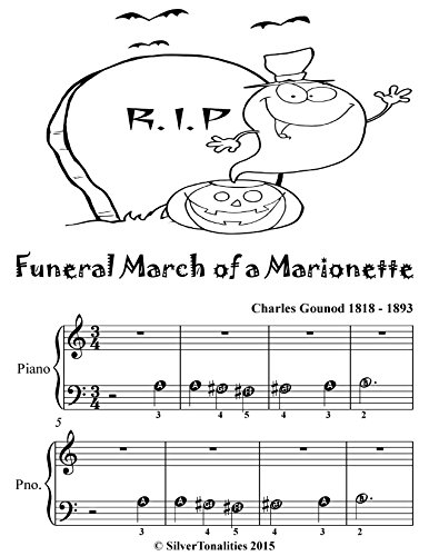 (Funeral March of a Marionette Beginner Piano Sheet Music Tadpole)