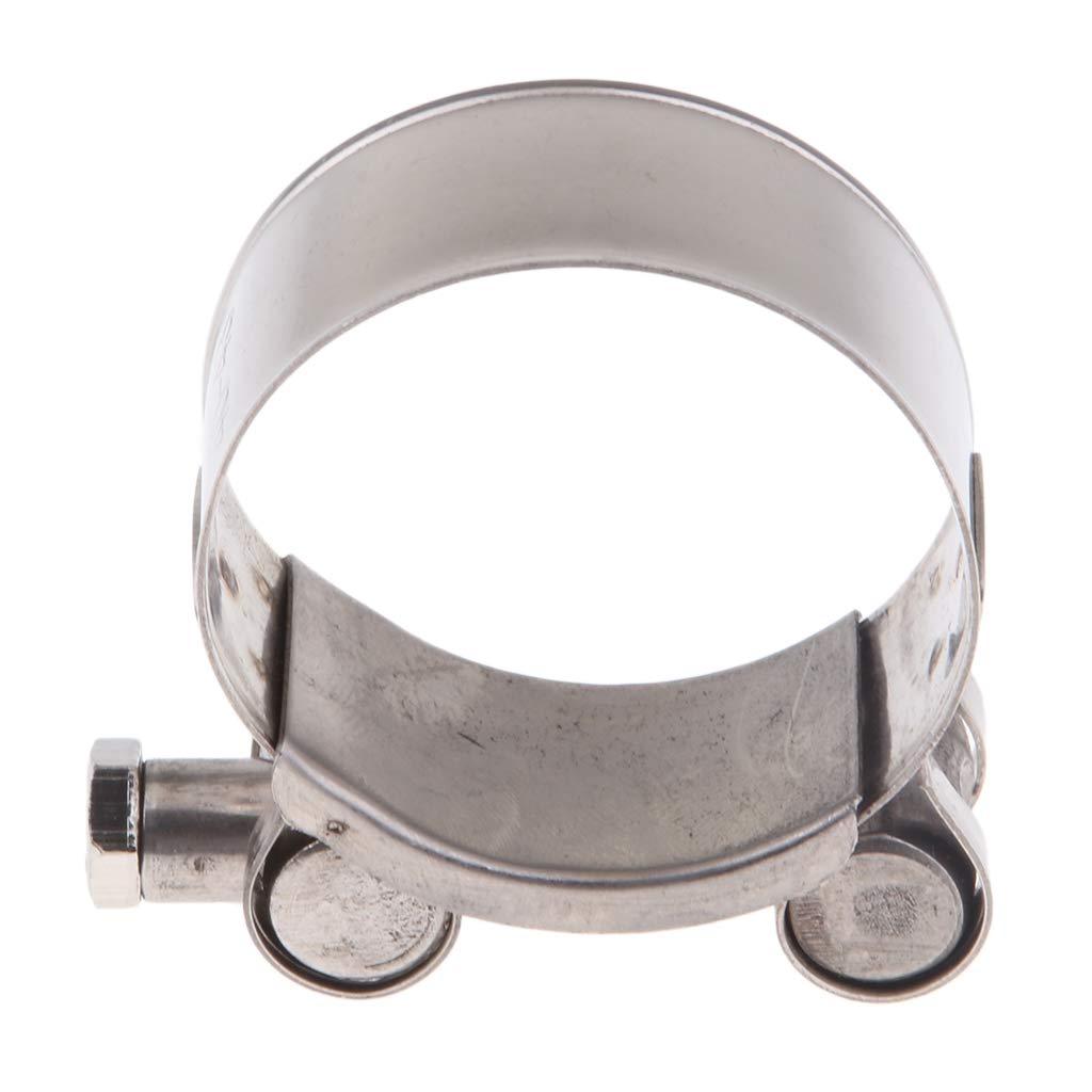 Color plata 32-35mm gazechimp Clip de Abrazadera de Escape de Tubo de Silenciador Soporte de Acero Resistente Partes de Moto