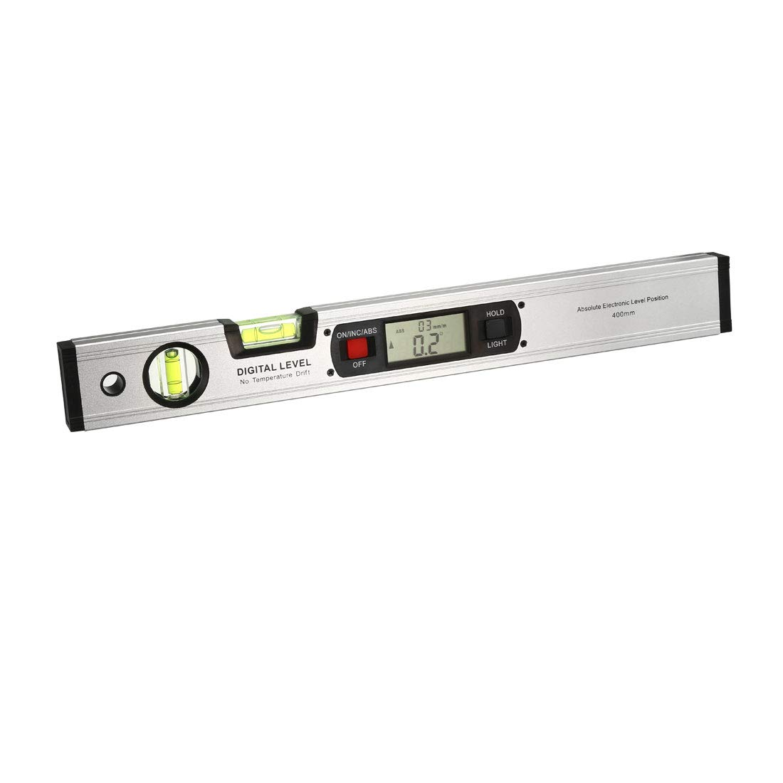 """16/"""" Digital Protractor Angle Finder electronic Level 360 Inclinometer Silver"""