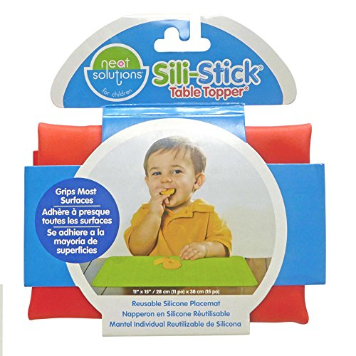 "Neat Solutions Sili-Stick Table Topper 11/"" X 15/""  Red"