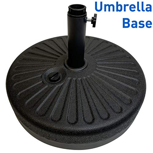 EasyGoProducts EGP-BASE-004 EasyGo Round Water Umbrella Base Weight - Brown Undertone/Gold Finish (Alternative Stand To Umbrella)