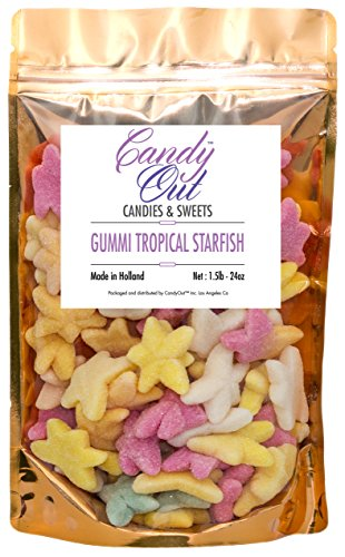 CandyOut Tropical Starfish Gummy Candy 1.5 Pound Resealable Bag