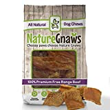 "Nature Gnaws Tripe Chips 2-3"" (20 Pack) - 100% All Natural Grass Fed Premium Beef Dog Treat Chews"