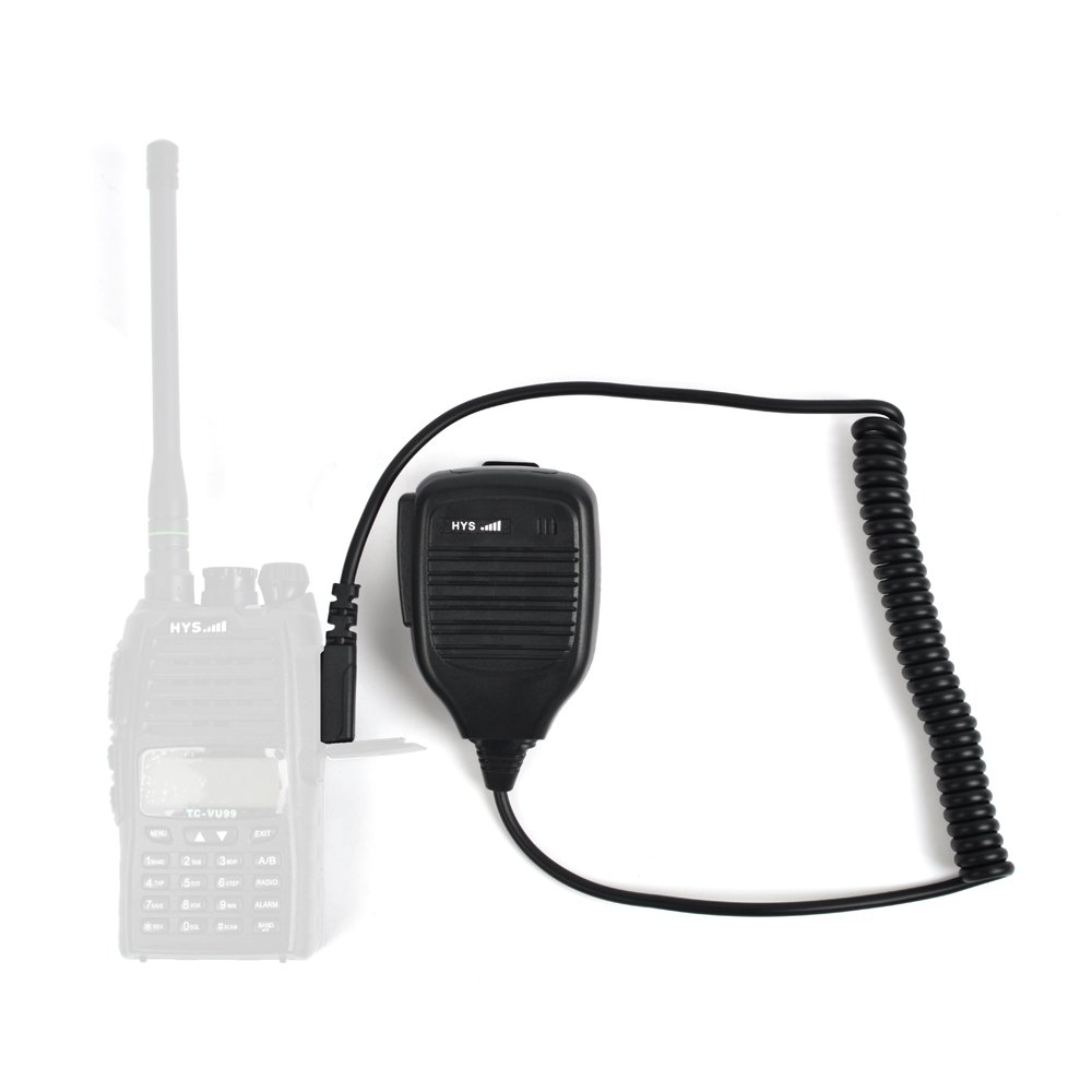 HYS 2 Pin K plug Handheld Portable 2-Way Radio Speaker Mic Microphone for Kenwood TH-D7AG TH-D7E TH-F6 Baofeng UV-5R UV-B5 BF-888s
