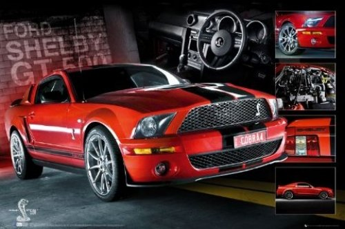 (GB Eye 61 x 91.5 cm Easton Red Mustang GT500 Maxi Poster, Assorted)