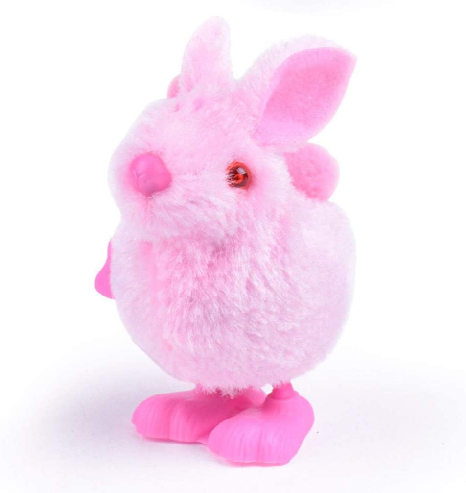 Random Color TOYANDONA 12 Pcs Plush Chick and Rabbit Wind Up Toy Easter Animal Clockwork Toys Kids Party Favors