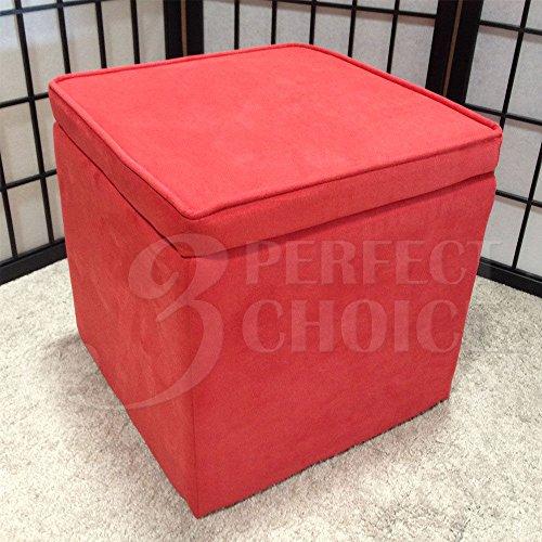 1PerfectChoice Kids Organizer Cube Storage Ottoman Footstools Poufs  Microfiber Color