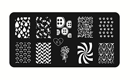 1Pc Essential Popular Nail Art Stamp Image Template Steel Stamping Fashion Plates Style - City Creek Center
