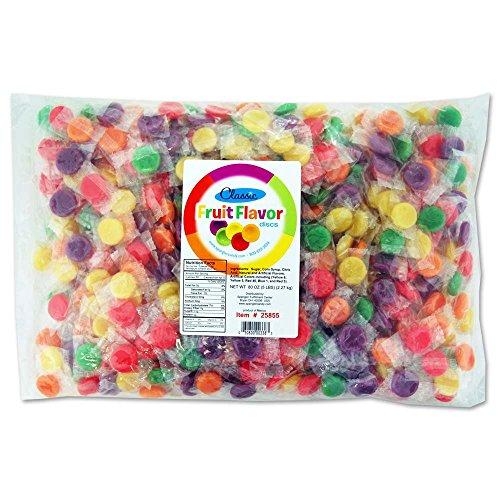 Classic Fruit Hard Candy Discs 5 lb bag ()