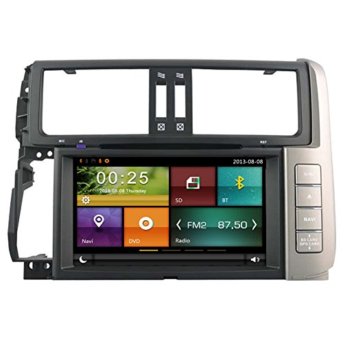 Autosion Car DVD Headunit Radio for Toyota Land Cruiser Prado 150 2010 2011 2012 2013 GPS Navi Bluetooth WiFi Navigation Stereo Bluetooth Steering Wheel Control