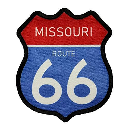 Route 66 Missouri Road Sign Patch Travel Road Dye Sublimation Iron On Applique (Gateway Arch Patch)